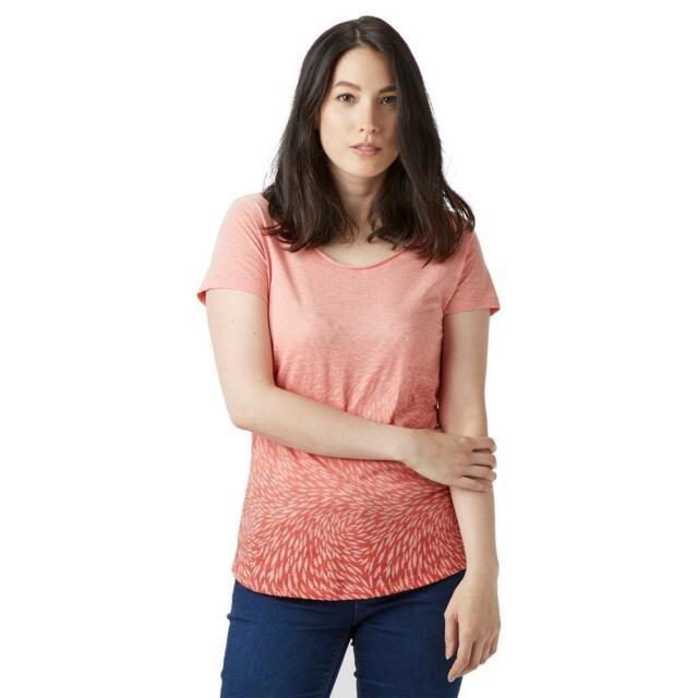 4d15b25e58e New Coral Columbia Womens Ocean Face Short Sleeve T-Shirt Outdoor Tops