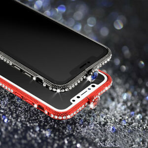 9e2a6256cd Luxury Bling Crystal Bumper Metal Frame Case Cover For Apple iPhone ...