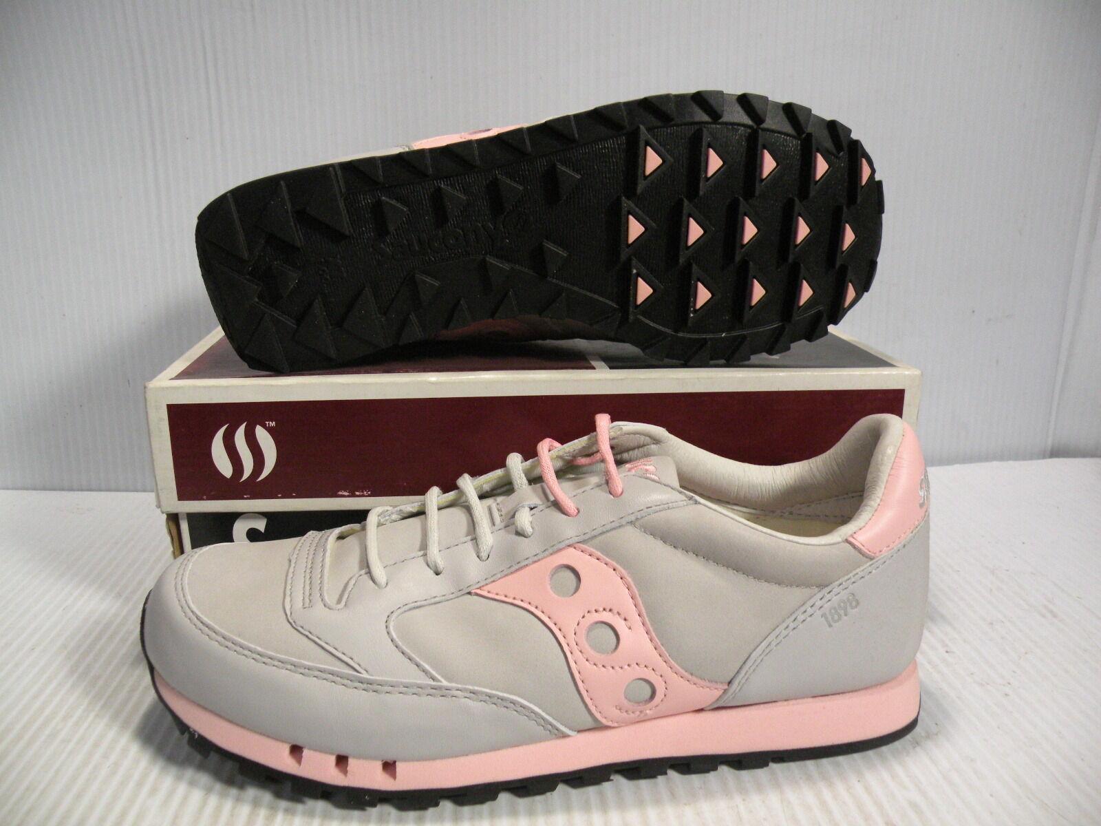 SAUCONY JAZZ NUBUCK LOW SUEDE SNEAKER WOMEN Schuhe GREY/PINK 1497-10 SIZE 8.5 NEU