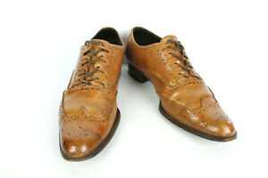 Derby Shoes YANKO Brown Leather Havana T 38/UK 5.5 Very Good Condition