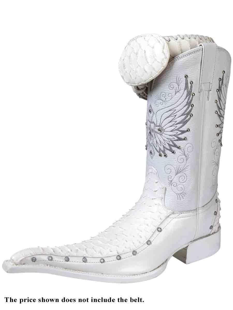 Cowboy Boots Bota Vaquera El General (Spcls) Piel Tela/Imit. Python ID 25762