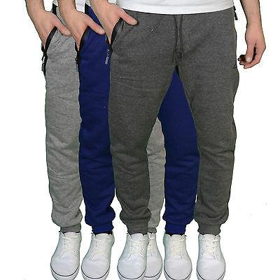 Kangol Mens Designer Branded Slim Fit Tapered Joggers, Grey/Charcoal/Blue. BNWT