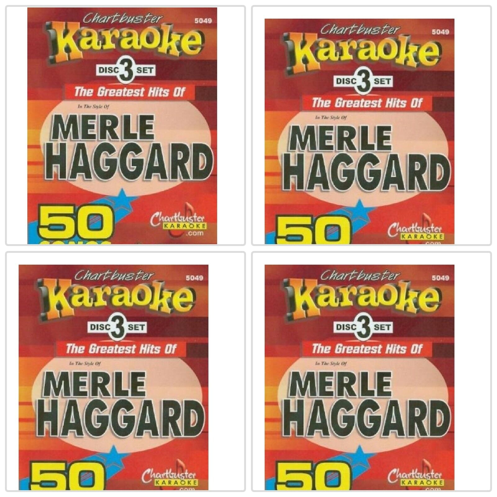 Details about Chartbuster Karaoke CDG 3 Disc Pack CB5049 - Merle Haggard