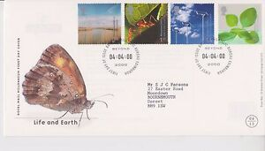 GB-ROYAL-MAIL-FDC-FIRST-DAY-COVER-2000-LIFE-amp-EARTH-STAMP-SET-BUREAU-PMK
