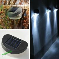 Garden Path Wall Fence Lawn Outdoor Solar Powered Power LED Lamp Lights Lighting