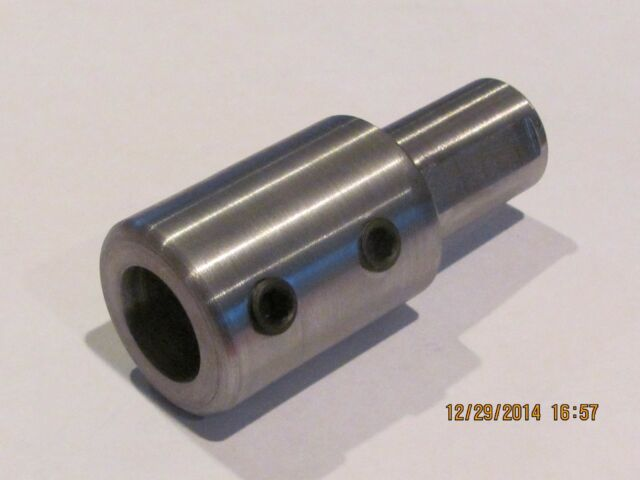 """SHAFT   Step-Down  Coupling   1//2/"""" X  3//8/""""  Steel       1 Pc"""