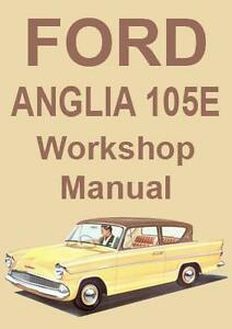 ford anglia 105e workshop manual 1959 1968 ebay rh ebay com au ford anglia manual ford anglia 100e workshop manual