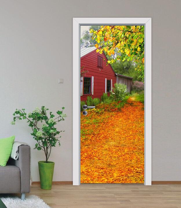 3D Laubbäume 87 Tür Wandlerei Wandaufkleber Aufkleber AJ WALLPAPER DE Kyra
