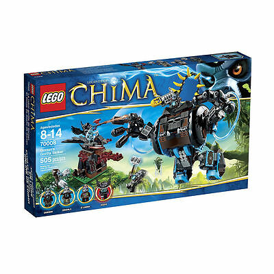 LEGO CHIMA 70008 GORZAN'S GORILLA STRIKER 505 PCS W/ 4 MINIFIGS BRAND NEW SEALED