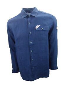 New-Mens-Tommy-Bahama-Linen-Long-Sleeve-Shirt-LA-Dodgers-Baseball-Medium-Sample