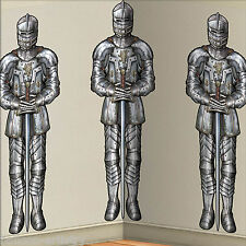 Halloween Medieval Party Scene Setter Room Roll KNIGHTS Backdrop Decoration