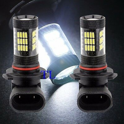 Combo 2 Pair H7 Samsung LED 57 SMD 6K White Headlight Light Bulbs High//Low Beam