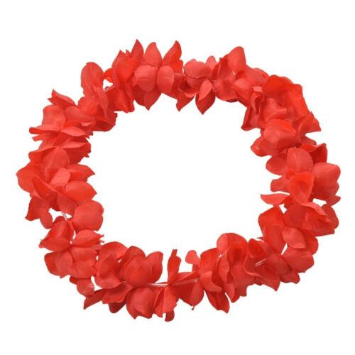 Hawaiian Hula Cloth Fashion Flower Garland Neck lace Leis Party Beach Decor