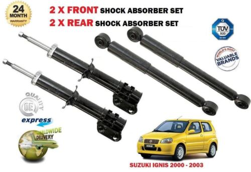 2X REAR SHOCK ABSORBER SHOCKER SET FOR SUZUKI IGNIS 1.3 2000-2003 NEW 2X FRONT