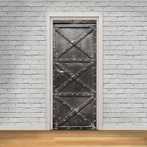 Door Mural Metal Safe Office Décor Home Decoration Self Adhesive