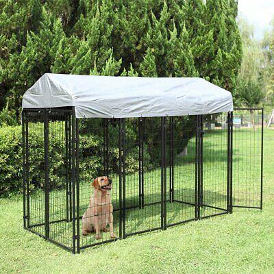 Dog Kennel Steel Wire Cage Pet Pen Sun