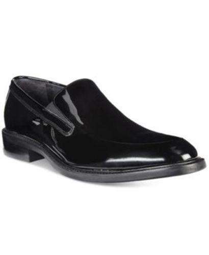 Cole Haan Warren Venetian pour Homme Tuxedo robe chaussuress noires vernies 8 NEW IN BOX