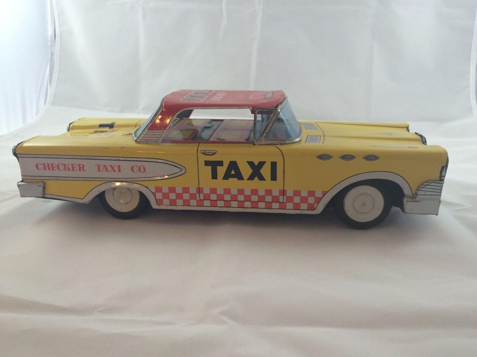 Vintage Checker Taxi De Estaño