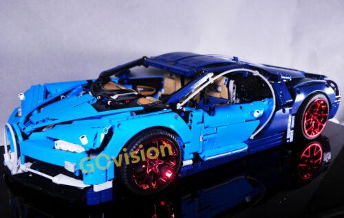 23799 Para Lego 42083 Bugatti Chiron Custom Lote De 4 Rodas Vermelho Metálico