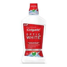 Colgate Optic White Mouthwash, Sparkling Fresh Mint 16 oz