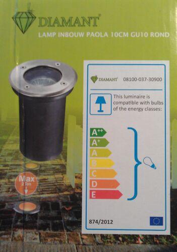 K 35W, 2 x Bodeneinbaustrahler Bodenstrahler Bodenlampe LED Halogen Garten max
