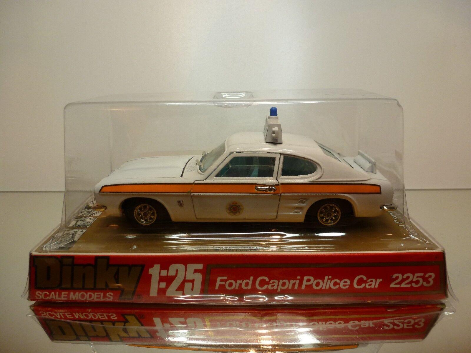 DINKY TOYS  2253 FORD CAPRI GXL - RHD POLICE CAR  - WHITE 1 25 - GOOD IN BLISTER