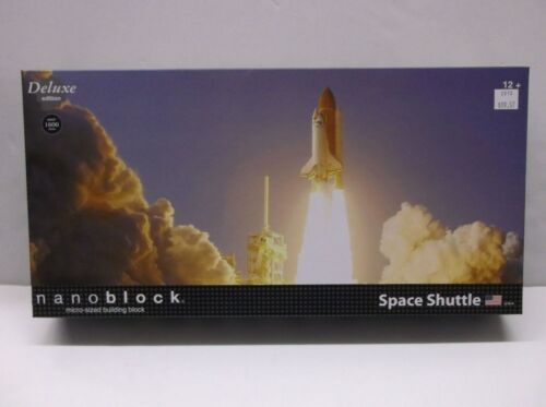 Space Shuttle Deluxe Nanoblock Micro Block Construction Toy Kawada 1600 Pieces