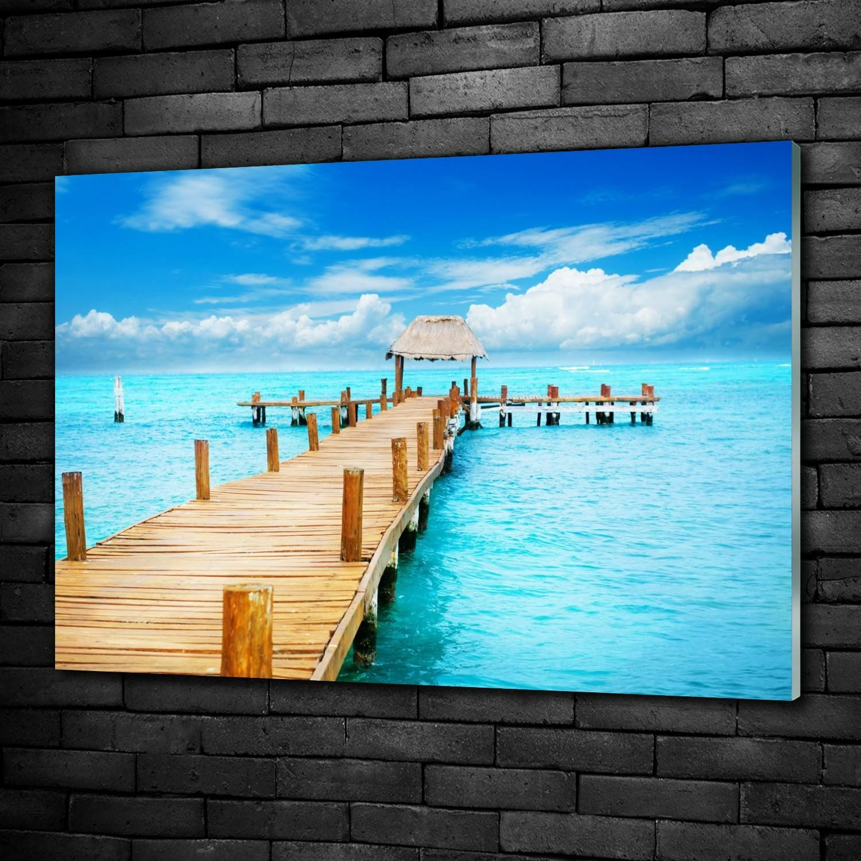 Acrylglasbilder Wandbild aus Plexiglas® Bild Steg Insel damenes