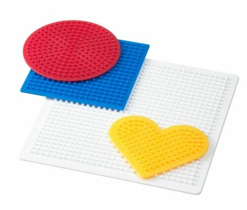 PACK OF 4 BOARDS For 5mm Hama Perler FUSE BEADS Iron-on ARTS /& CRAFT Kit Heart