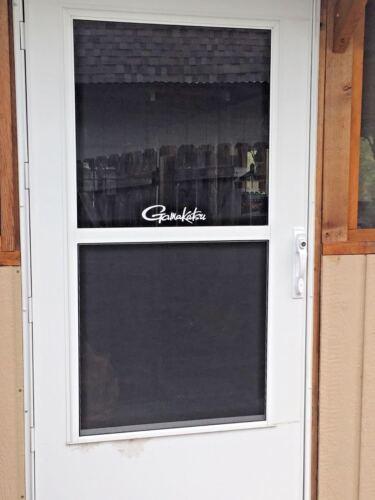 Gamakatsu Hooks Window Decal Truck Car Bass Boat Tackle Box Back Porch Door!
