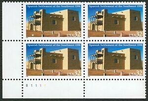 #3220 32c Español Settlement Of Sw, Placa Bloque [B1111 Ll ] Cualquier 5=