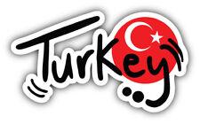 Turkey Slogan Travel Car Bumper Sticker Decal Sizes