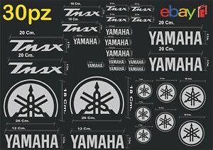 MAXI-KIT-30-PZ-DI-ADESIVI-YAMAHA-OLD-TMAX-T-MAX-500-530-COLORE-ARGENTO