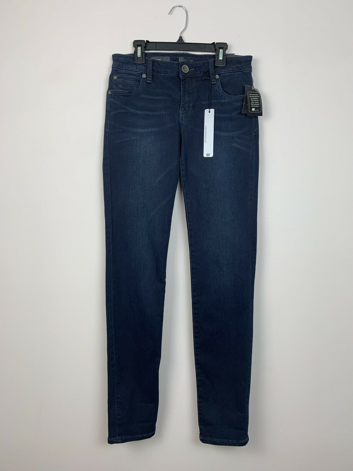 NWT Womens Kut From The Kloth Diana Skinny Beatitude bluee Jean Pants, Size 4 S