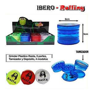 Grinder-Rasta-5-partes-Plastico-transparente-6-cm-diametro-Hierba-1-unidad