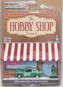 1970 Datsun 510 orange Race Driver Figur*** Greenlight Hobby Shop 1:64
