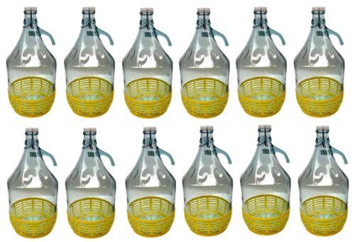 5l Glasballon Gärballon Bügelverschluss Flasche Weinballon Menge nach Wahl