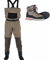 Greys New Strata CTX Stocking Foot Breathable Chest Waders + CTX Wading Boots