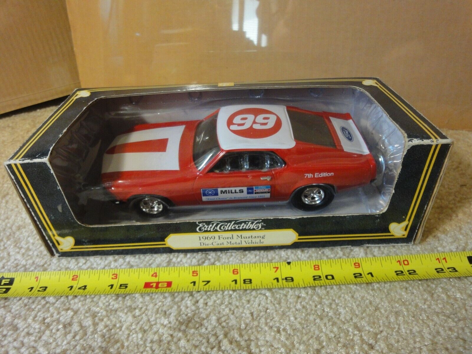 Rare  Vintage Ertl diecast 1969 Ford Mustang, dealership exclusive 1 25. NOS