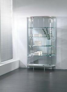 Dettagli su Vetrina Vetrinetta vetro cristallo negozio o casa sala salotto  soggiorno