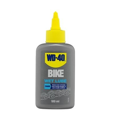 WD-40 44777 Bike Wet Chain Lube 100ml Lubricant Wear Friction Reducer Garage