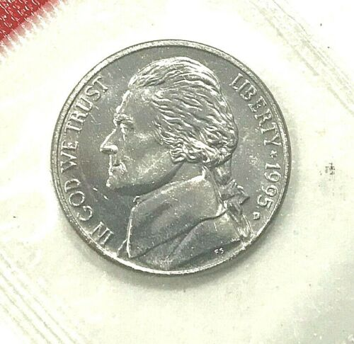 1995 P D S Jefferson Nickel In Mint Cello PROOF 3 COINS