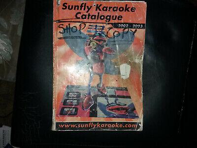 Sunfly Karaoke Catalogue 2002-2003 | eBay