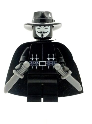 Custom Designed Minifigure Anonymous Printed On LEGO Parts
