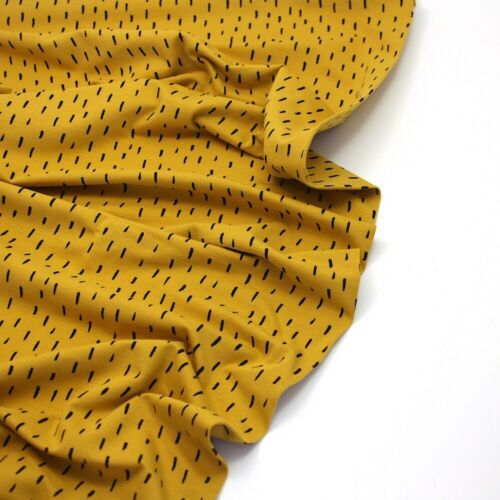 Ochre 112 Cotton Fabric Stretch Dash Organic Summer Jersey