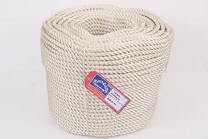Creative Everlasto Three Strand Nylon Mooring/anchoring Rope Various Lengths 8mm