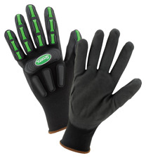 Scotts Work Gloves Impact Protection Safety Gloves Heavy Duty Dip Gloves Size L
