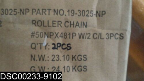 Details about  /19-3025-NP Nickel Plated 25/' Chain #50 Roller Chain
