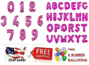 Pink Happy Birthday Letter Balloons.Details About Pink 16 30 Foil Number Letter Balloons Happy Birthday Party 6 Free Balloons