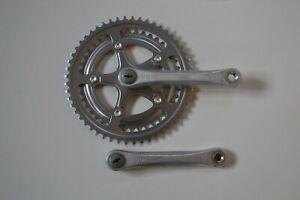 Vintage-1986-SR-Custom-165mm-Crank-Set-Double-52-42T-Chainrings-Square-Taper